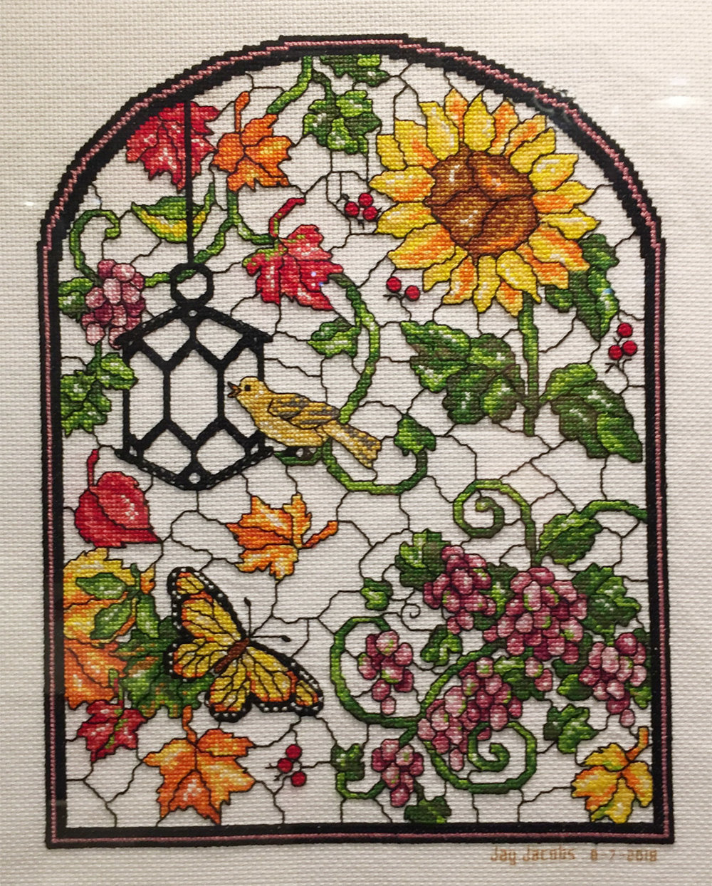 Stained -Glass Songbird   J. Jacobs