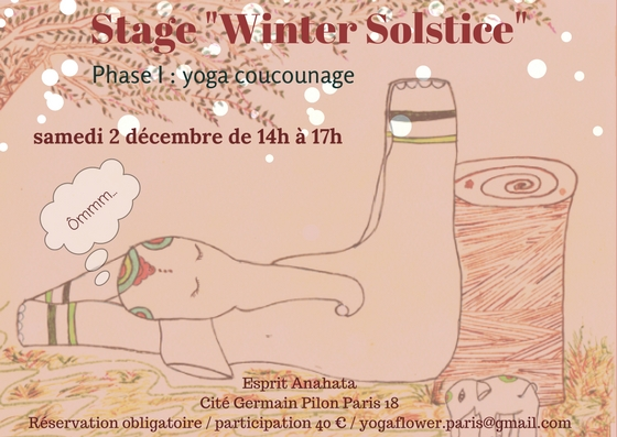 """Workshop """"Winter Solstice"""" Saturday, December 2, from 2pm-5pm."""