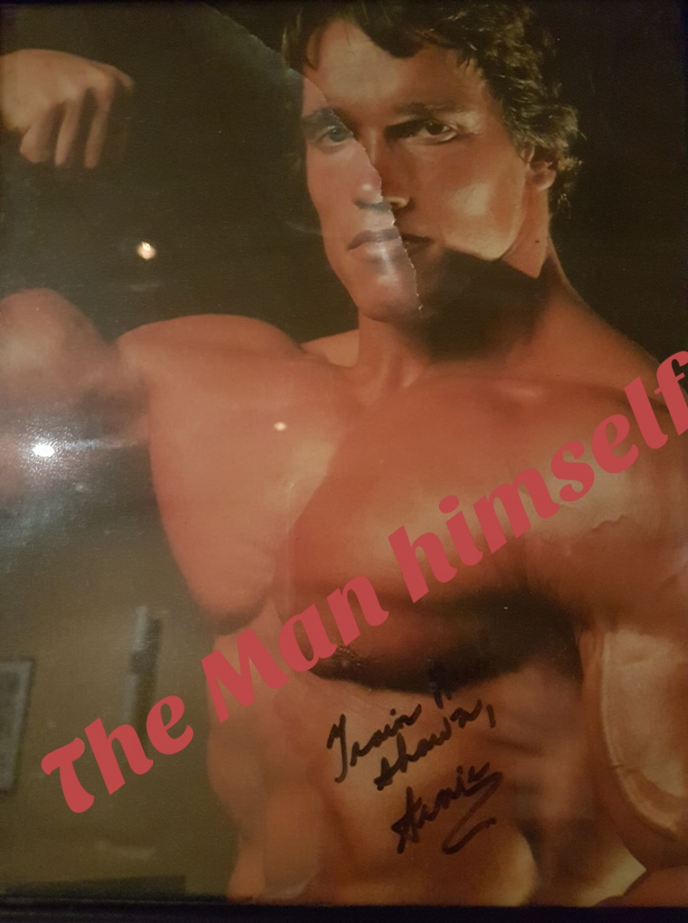 "Not completely sure this Signature is Authentic nor genuine / as my training partners for 6 long years told me they were ...and I never asked Questions!... Bob was the ""best"" and alway showed up for each & every work-out. He was only 185 lbs and could bench 385 ibs ...That is the real dea! with me...."