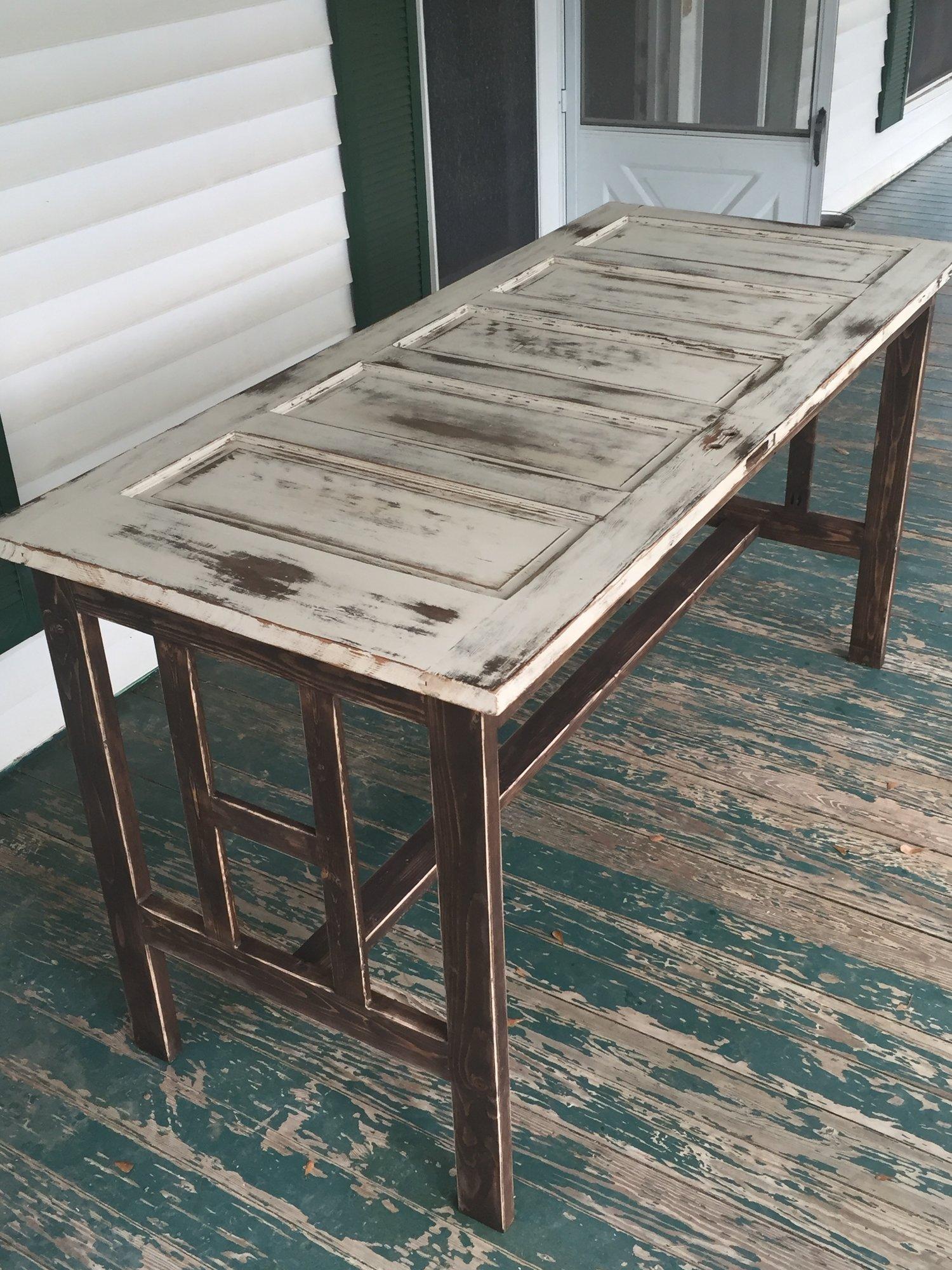 Antique Door Bar Table - Antique Door Bar Table — The Nomad CW