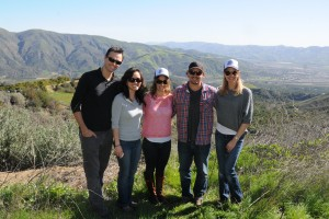 From Left: Emiliano Escobedo, Gina Widjaja, Mitzi Dulan, Jamie Johnson and me at Rancho Simpatica