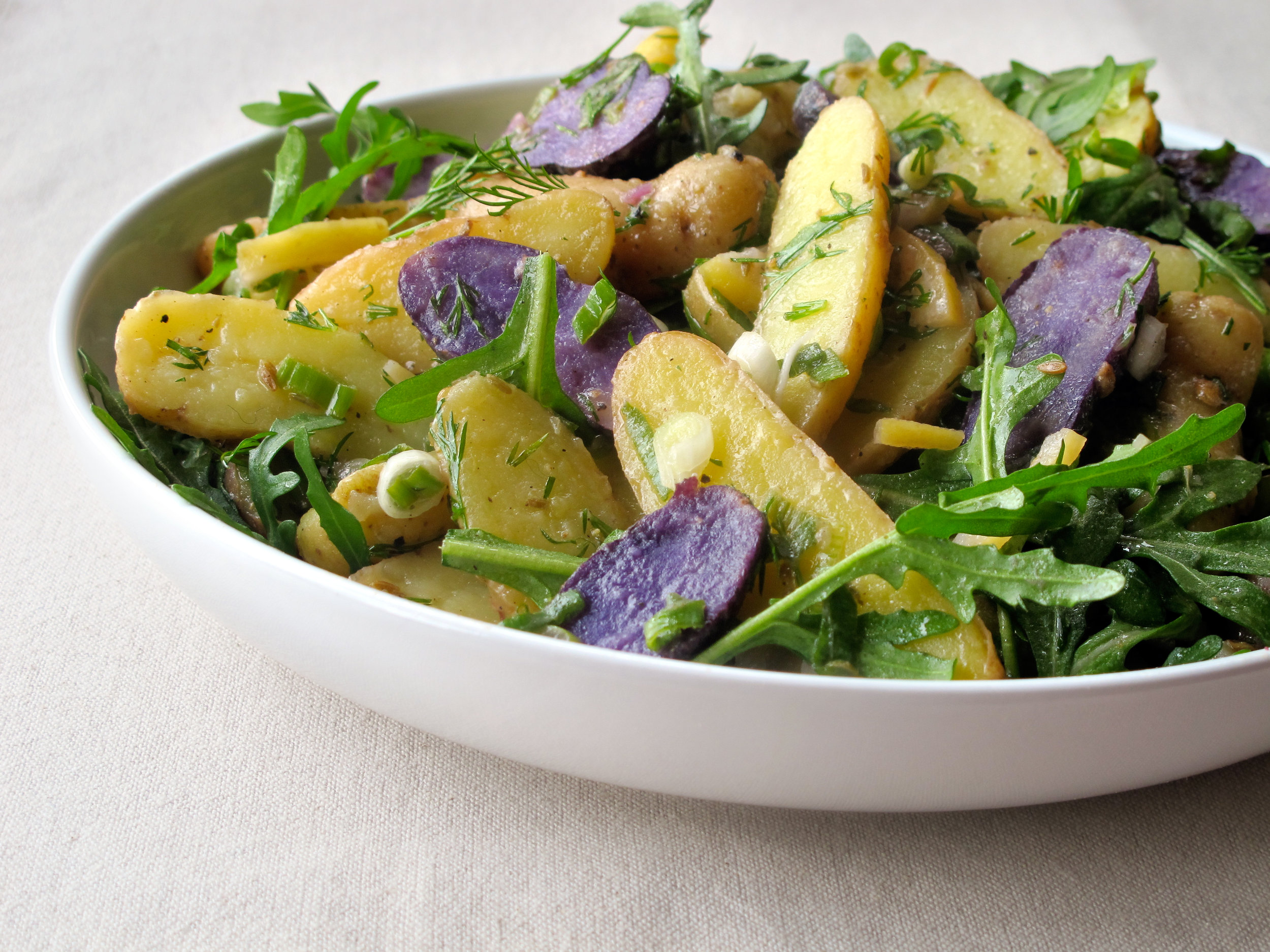 Potato Salad with Quick Preserved Lemon Coriander and Arugula Recipe