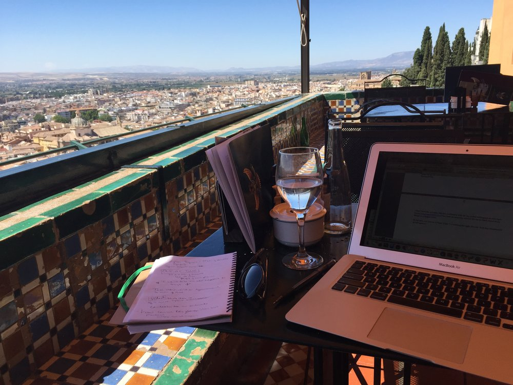 Writing my blog in Granada Spain.