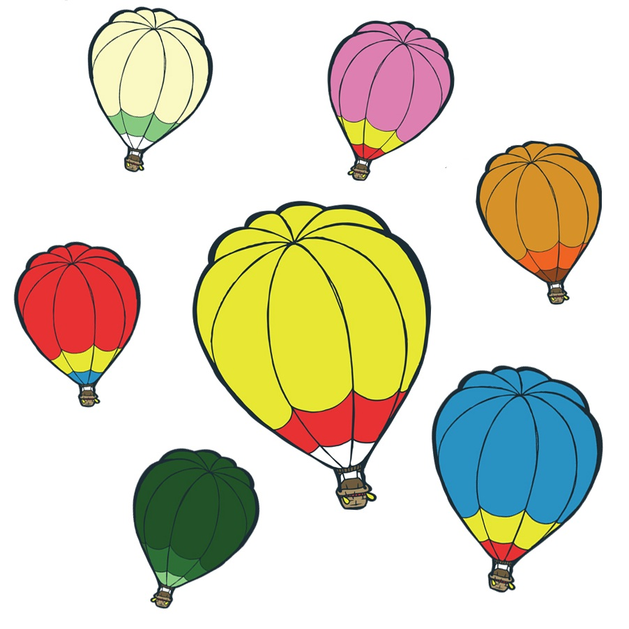 Hot Air Balloon Decal Set (7) — Wallfulls