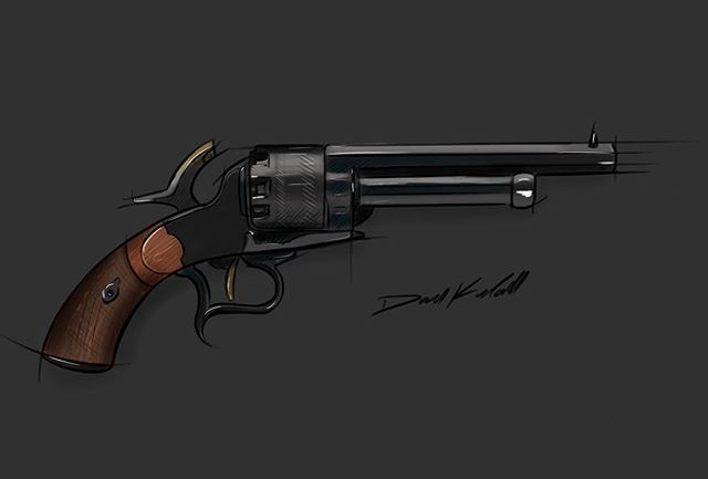 The Man in Black's LeMat revolver from #westworld  #idsketching #sketchbook #revolver #art #instaart #sketchbookpro #industrialdesign #productdesign