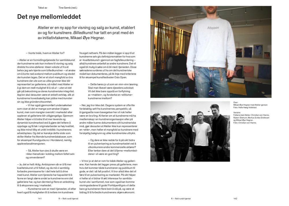 Mikael Hegnar om Atelier i Billedkunst