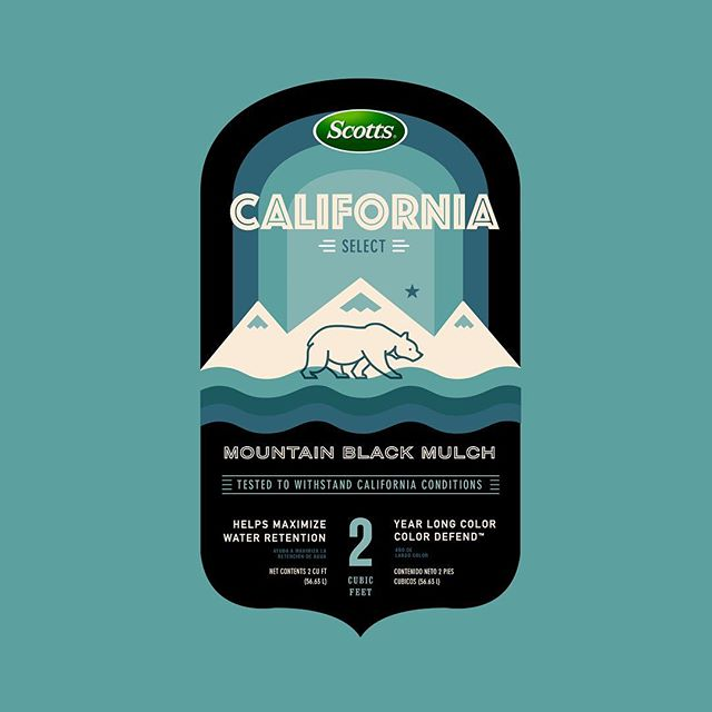#tbt Colored Mulch Packaging for the Californian marketplace.