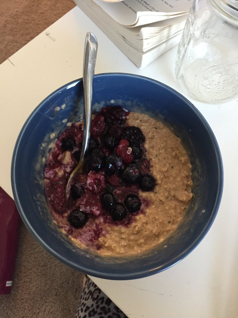 The World's Best Oats - -1/3 cup organic oats (use steel cut if you have them)-walnuts-hemp seeds-1 spoonful of coconut oil-cinnamon-cover in unsweetened almond milk  to cook-stir in Wild Friends Almond Butter-top with berries