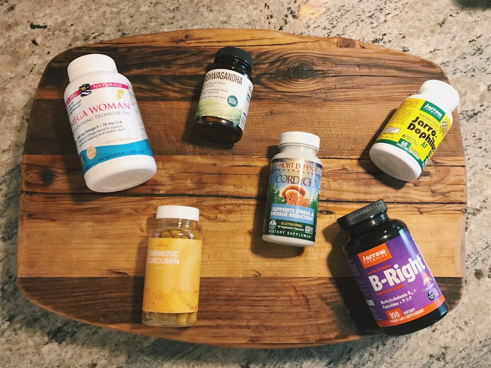These are the brands I have of each of the supplements I mentioned. There are a variety of brands out there - I purchased these at Whole Foods!