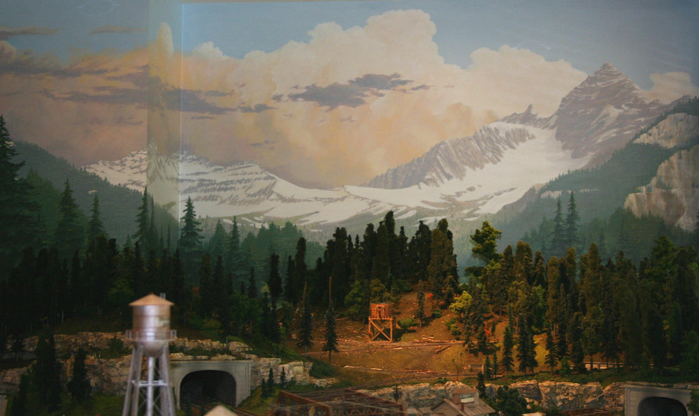 Model train backdrop