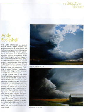 Andy Eccleshall in Southwest Art magazine