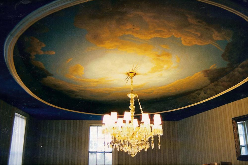Classical ceiling mural
