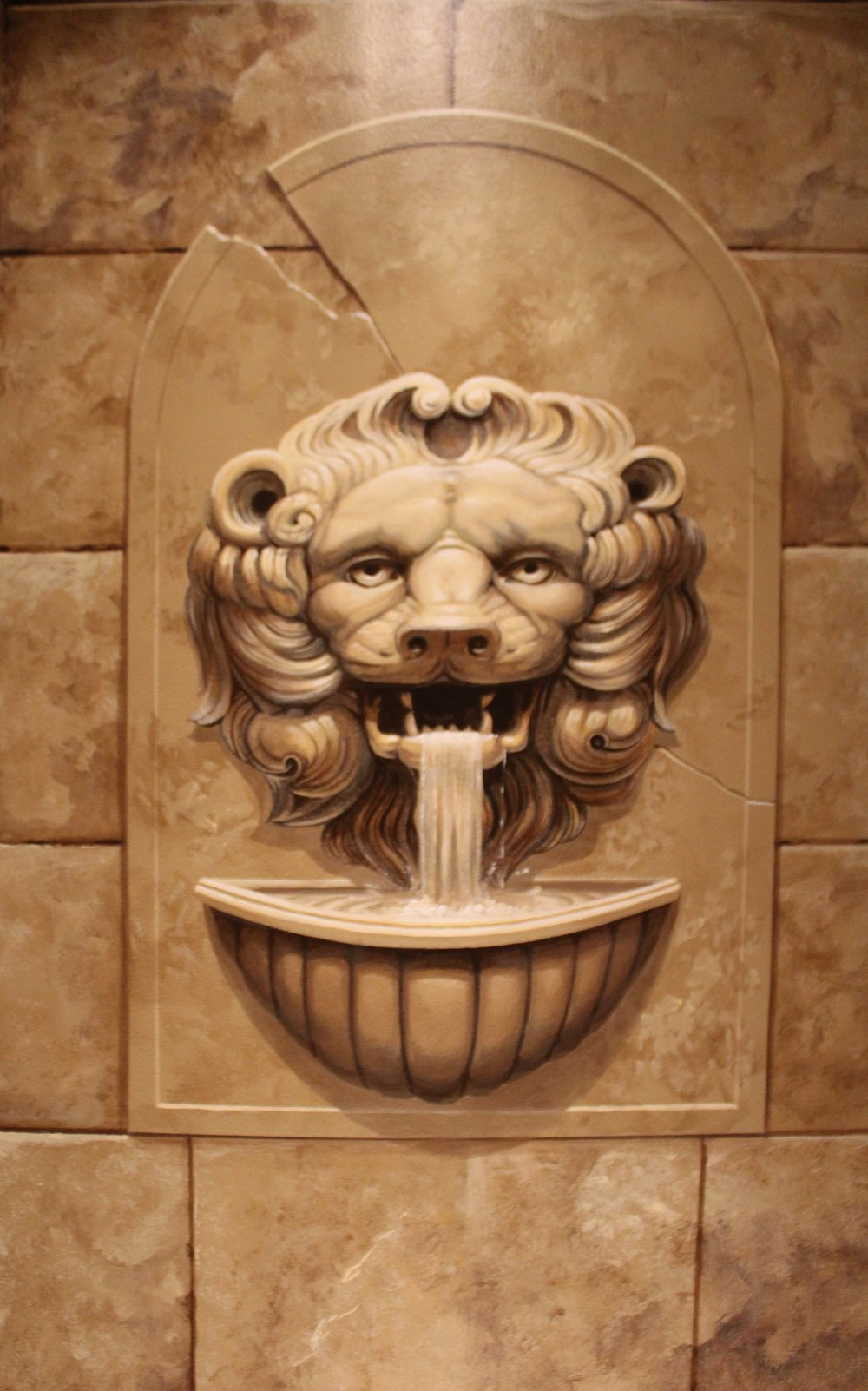 "Detail from a ""castle"" themed bathroom"