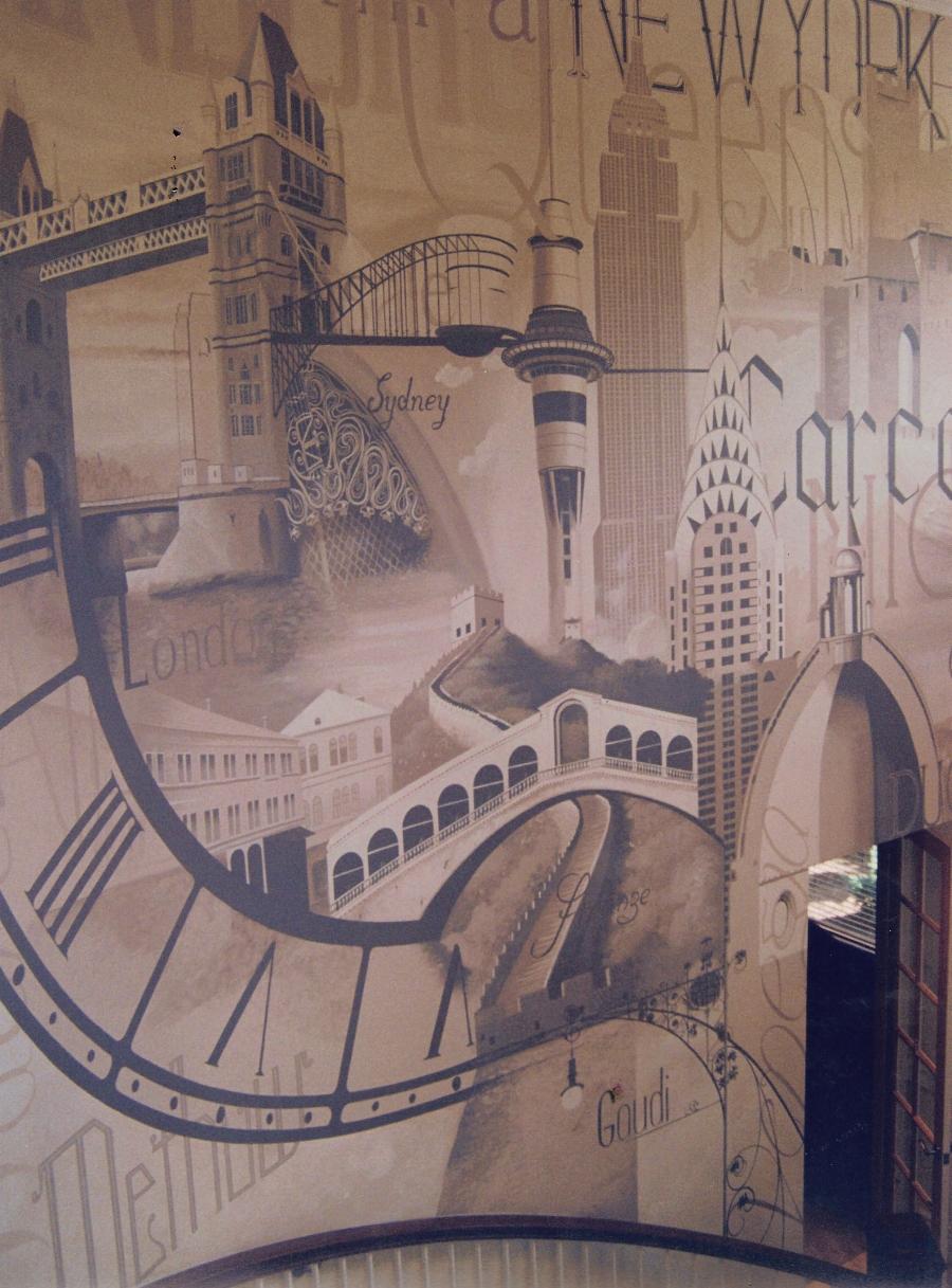 Montage Entrance Mural