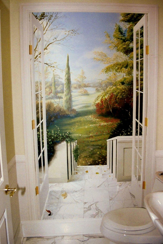 Trompe l'oeil doorway