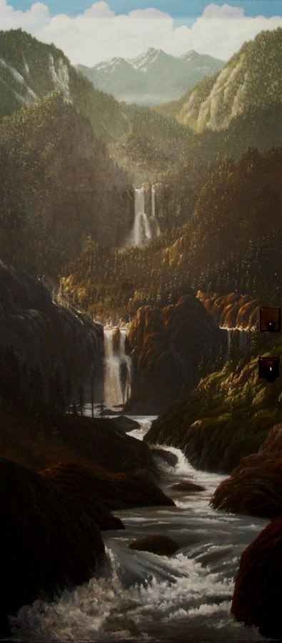 Northwest landscape mural