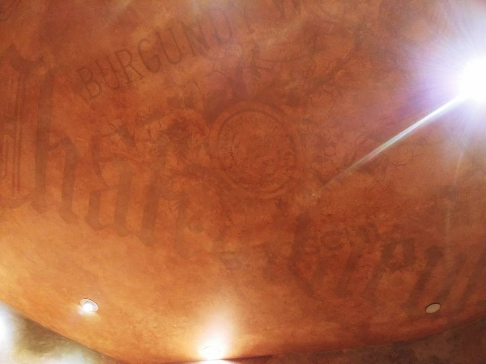 ghost writing-faux ceiling