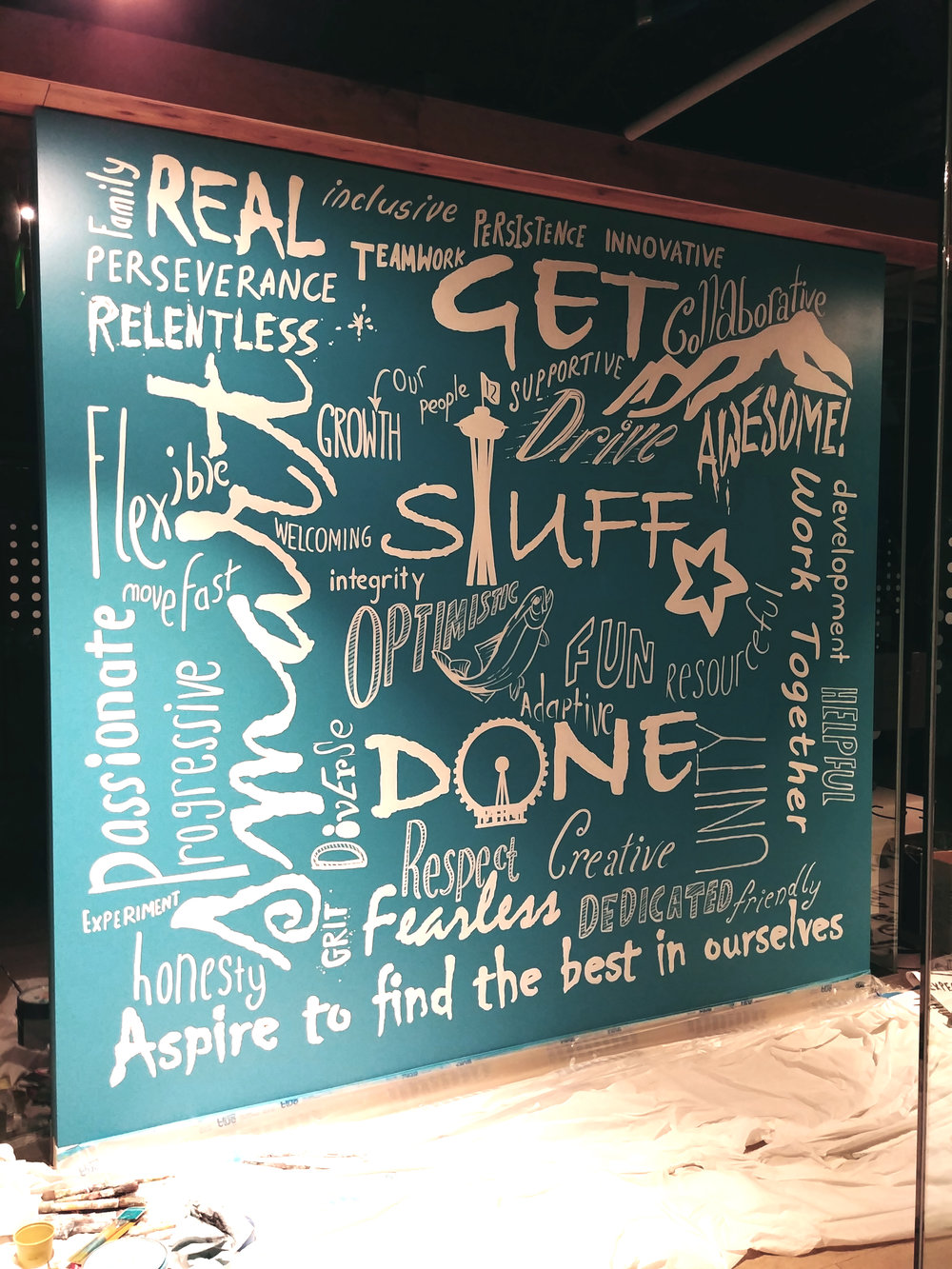 Mural for AVVO Corporate Offices Seattle