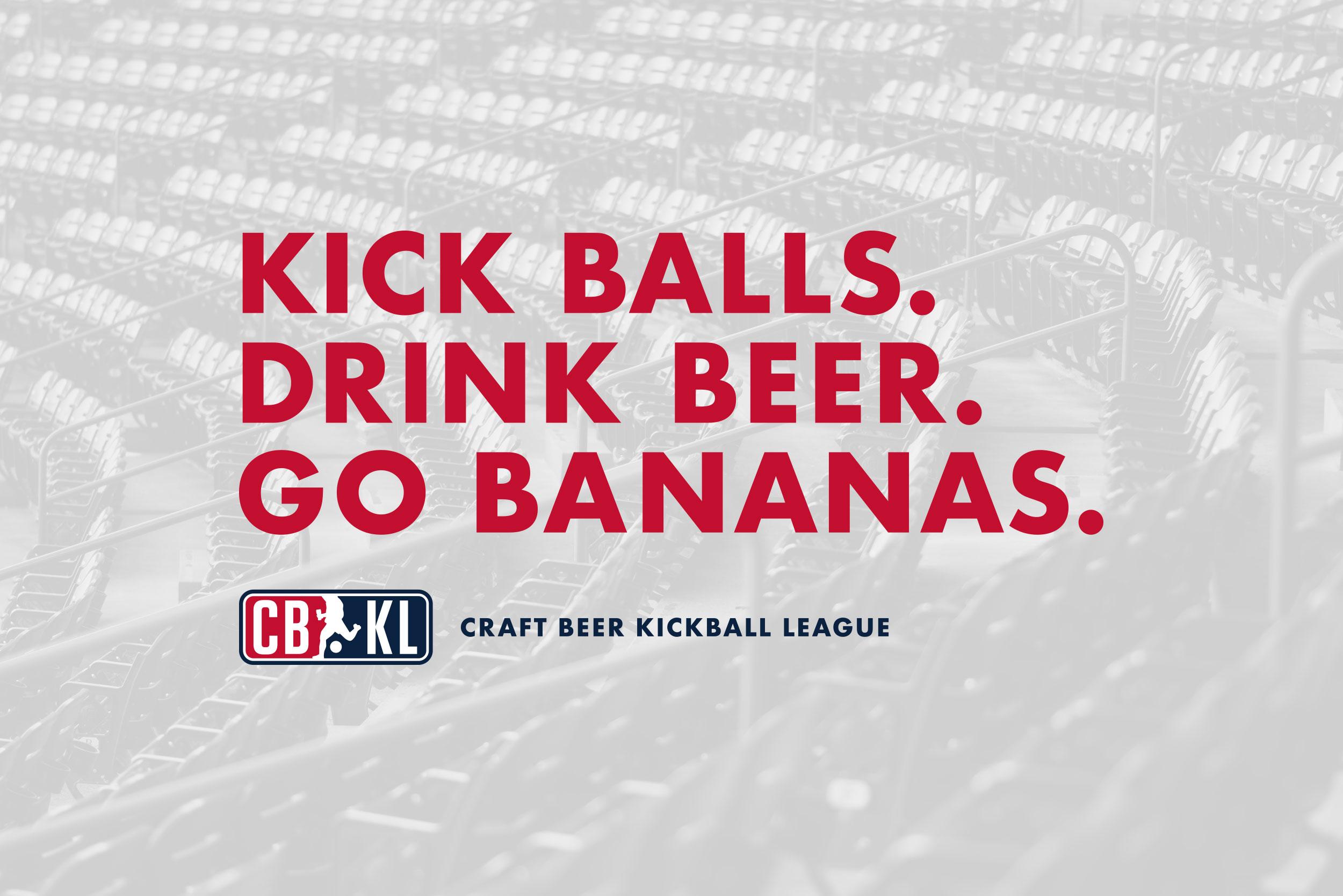 Craft Beer Kickball League Logo Design Pressbox Creative