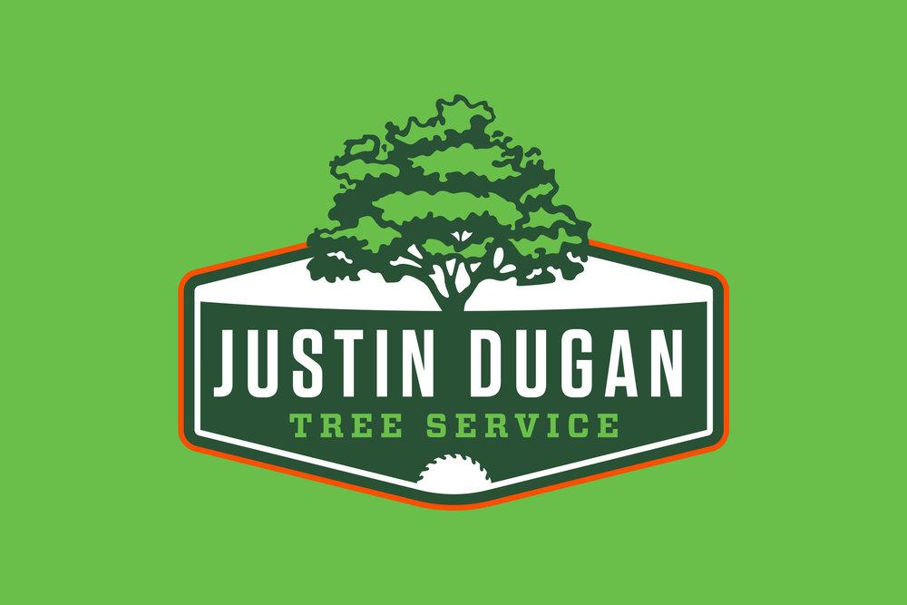 justin dugan tree service logo design pressbox creative rh pressbox creative com tree service logo ideas lewis tree service logo