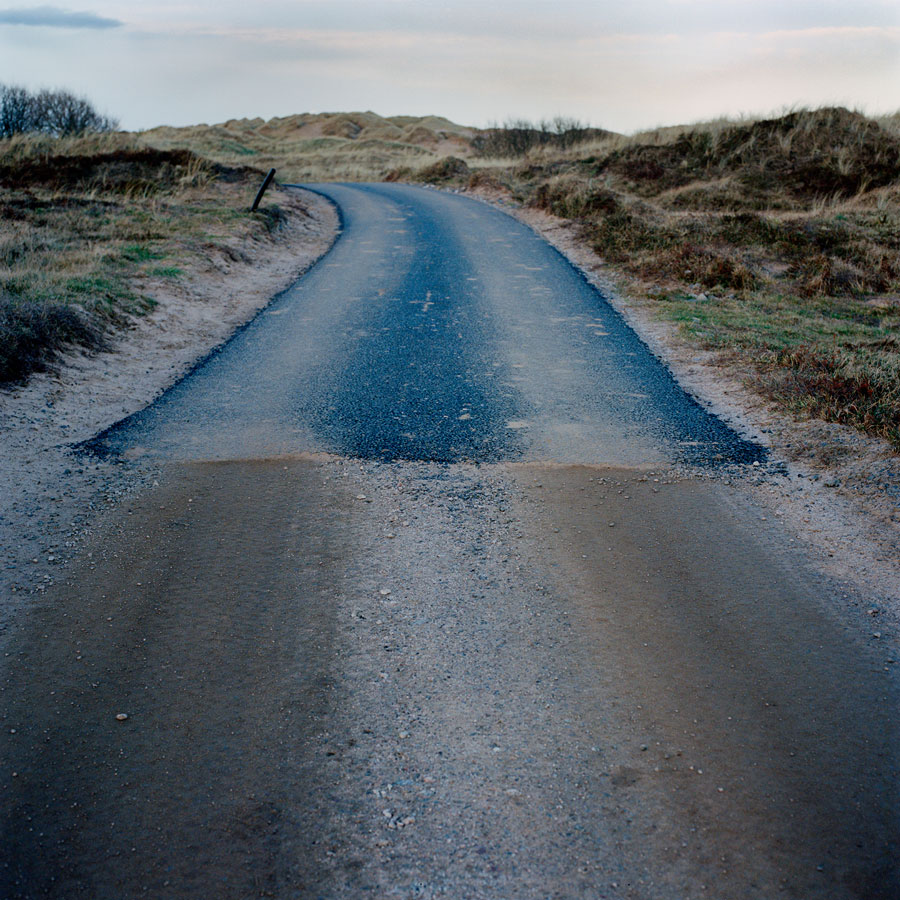 'End of the tarmac road' From series 'Menie: TRUMPED' //© Alicia Bruce