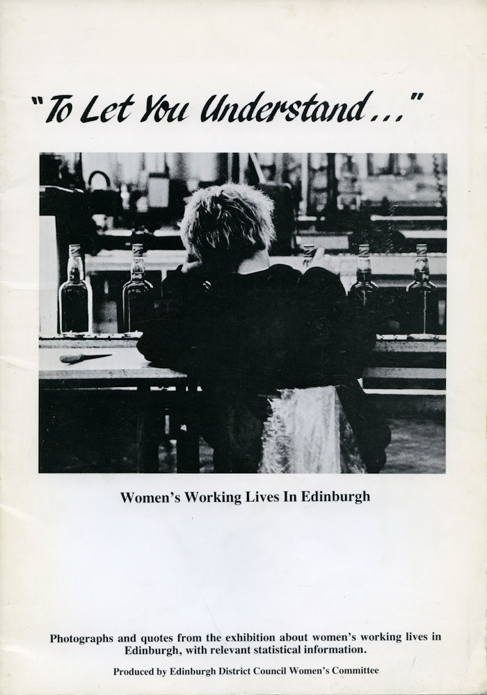 To Let You Understand... exhibition and book, Edinburgh, 1988