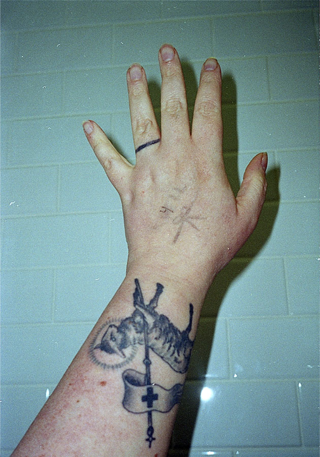 © Flannery O'kafka  // Self-portrait. From the series: Stigmata Study