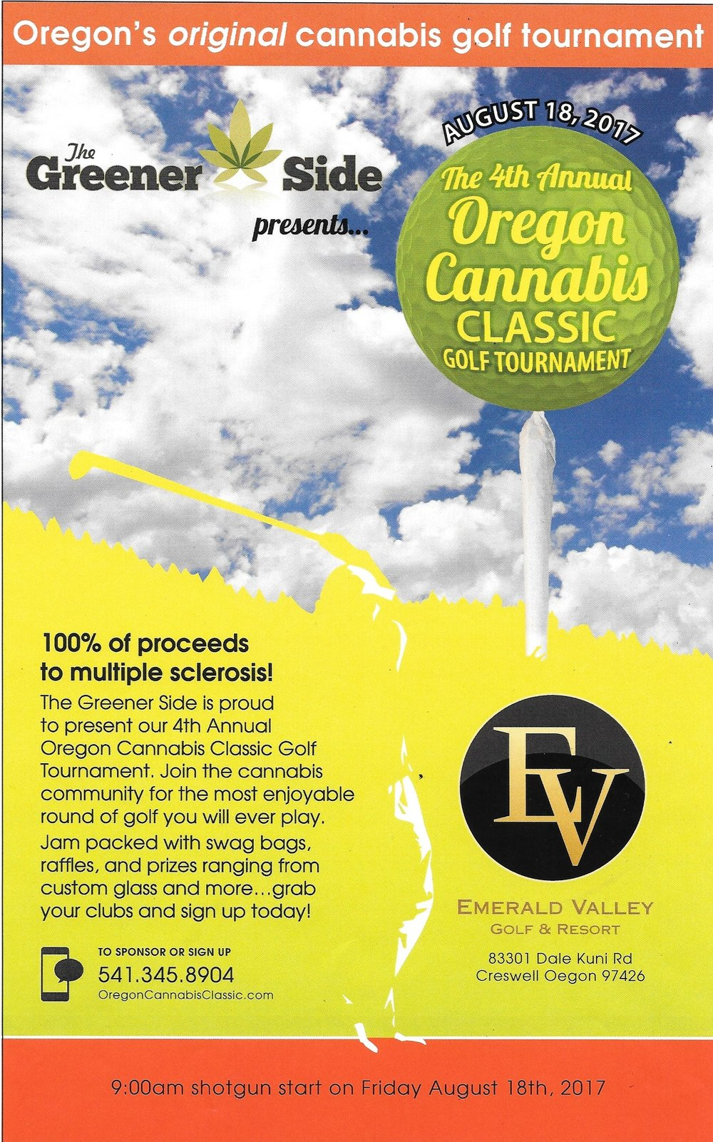 4th Annual Oregon Cannabis classic Flyer