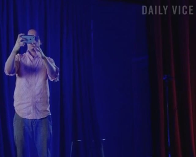 Check out Daily @VICE for BTS of the #dvhologramparty last week w/ @ericfuckingandre. #hologram #occupiedVR