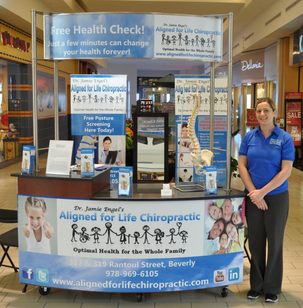 Free chiropractic consultations at North Shore Mall in Peabody, MA