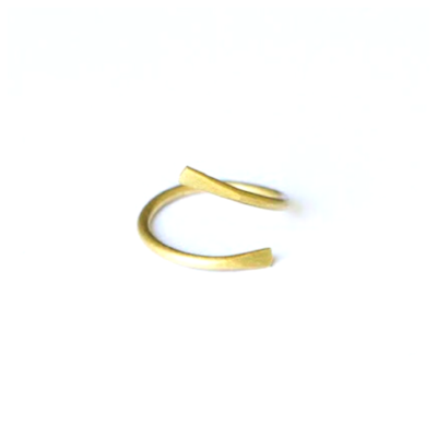 """Sumi-e"" brass twist ring---my homage to the beauty, power and grace there is in moving about the planet in small but impactful ways."