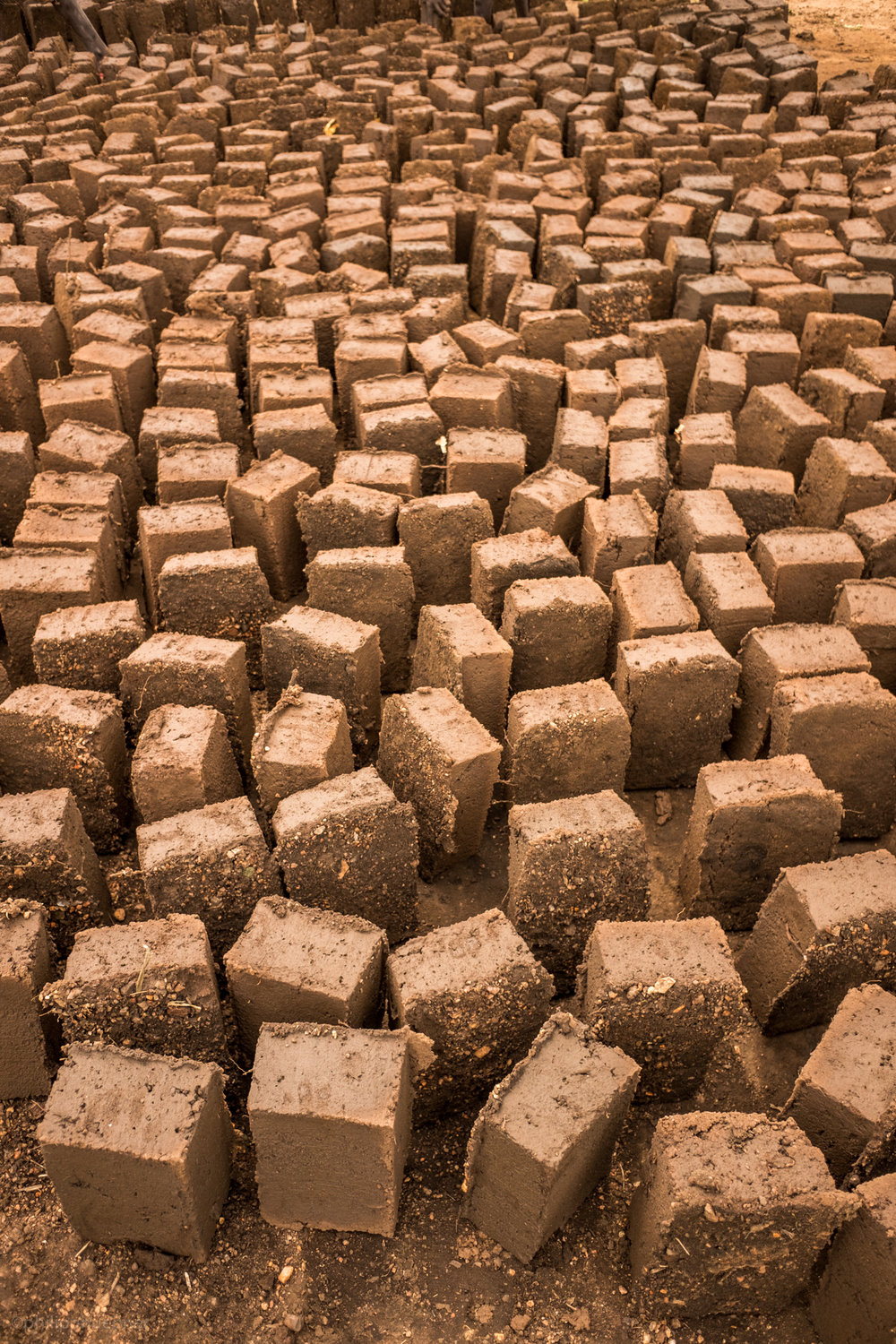 drying mudbricks