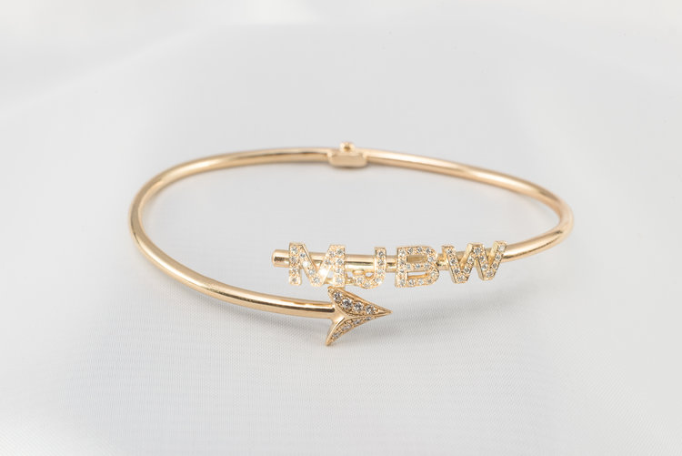 Arrow Bracelet With Custom Lettering Jewelry