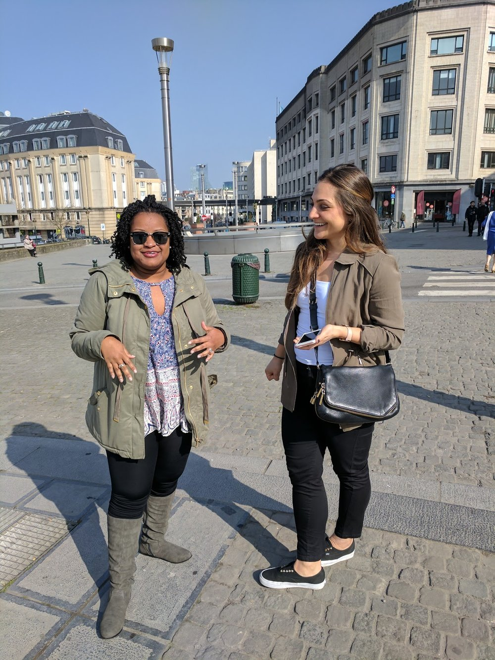 Thanks Jackie for being our navigator in Brussels!