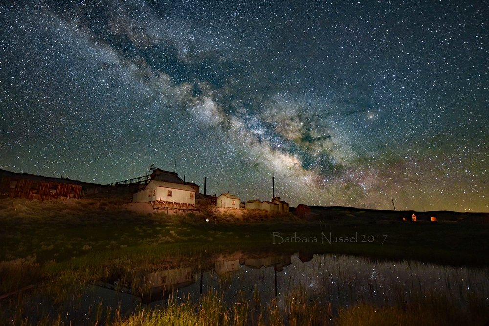 Standard Stamp Mill and Milky Way with reflections