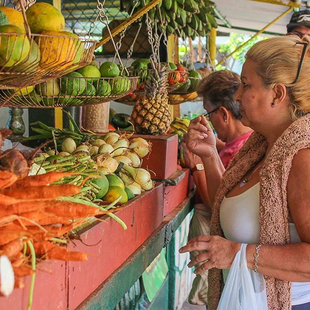Fruits and veggies at one of the many privately-run produce markets in Havana #fresh #food #havana #cuba #ifcuba #travel #cubano @eemscully