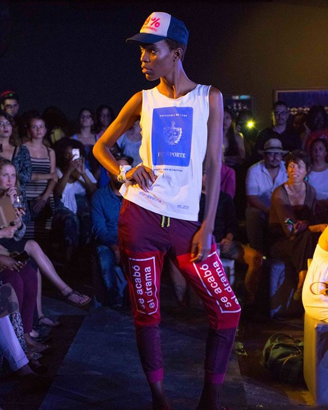 From Clandestina 99% Diseño Cubano's recent runway show at the @fabricadeartecubano #fashion #nightlife #travel #design #havana #cuba