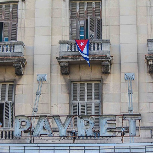 Cuba pride above the Payret theater in Old Havana #havana #cuba #travel @eemscully