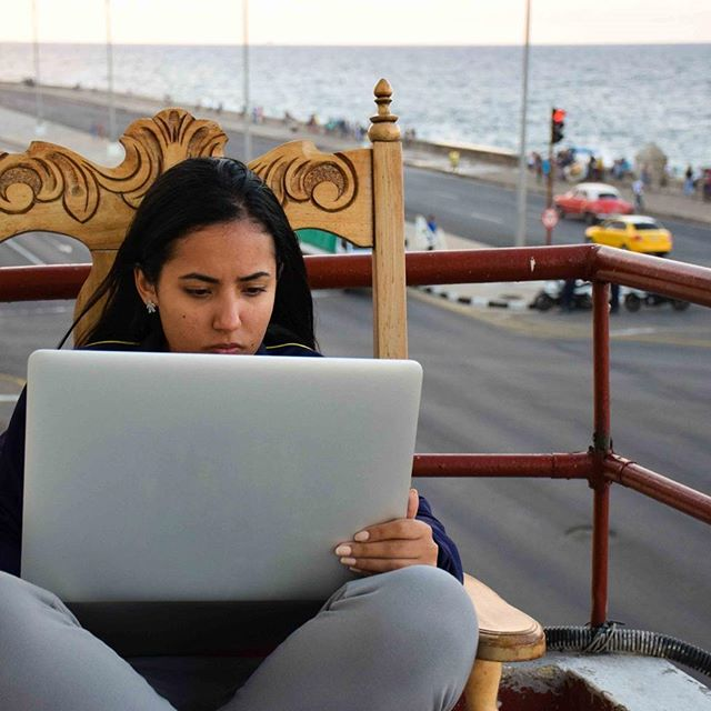 Working hard on the wifi by the #malecon in #havana #cuba  #wifi #hotspot #internet #travel #workworkworkworkwork