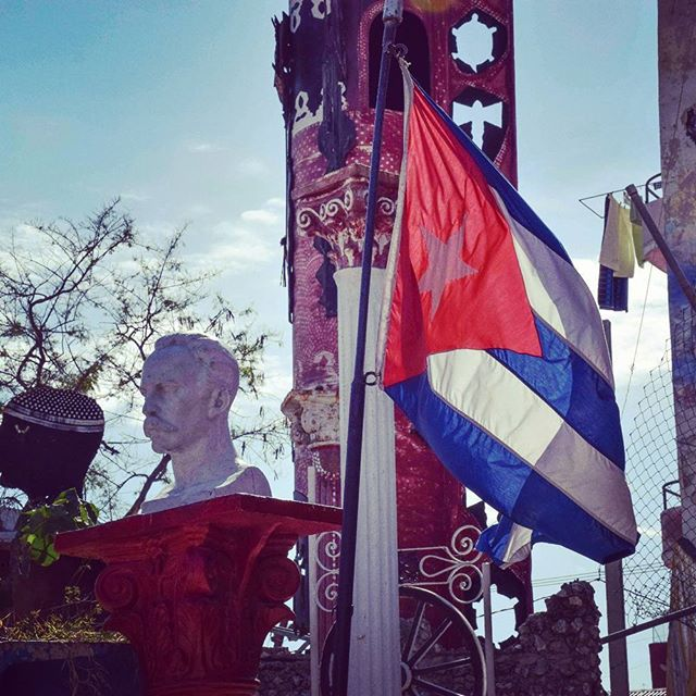 Be sure to check out the tucked away Callejon de Hamel on your next trip to #havana #cuba #travel #photography #art #streetart #josemarti #travelphotography #flag