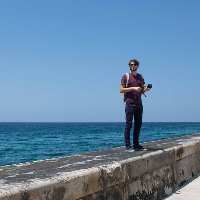 Contemplation on the #Malecon⠀ #havana #cuba #travel #wanderlust #photography #camera #sun #surf #ocean