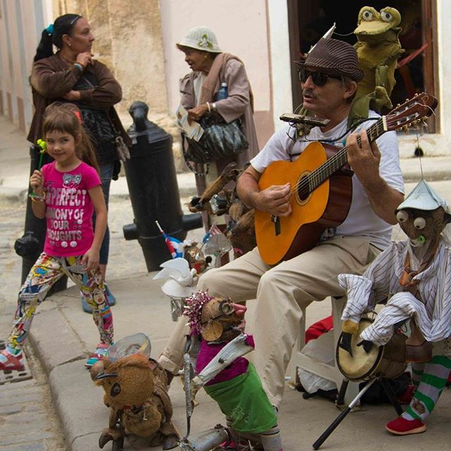 A little bit of Easter fun in #oldhavana #cuba⠀ #havana #music #streetphotography #travel #wanderlust #puppets #muppets