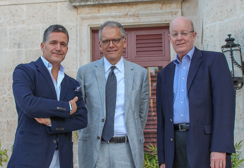 Featured Attendees (from left to right) Miles Spencer, co-founder the Innovadores Foundation; Ambassador Jeffrey DeLaurentis, Chief of Mission of the US Embassy in Havana 2014-2017; and John Caulfield, Chief of Mission of the US Interests Section in Havana, 2011-2014.