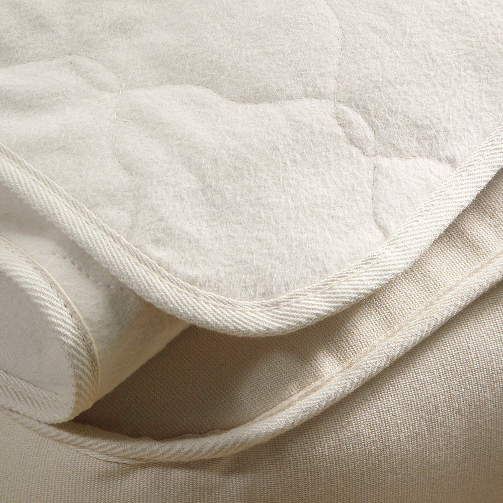 Organic Cotton Flannel Mattress Pad