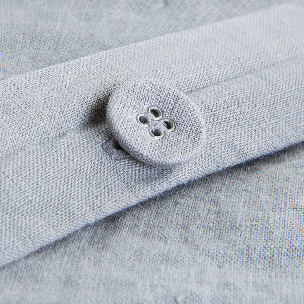 Fabric-covered buttons for classic look