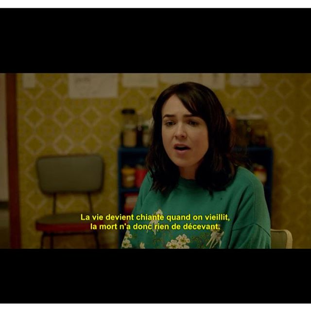 """Please Like Me (tv show) - perfect dark humour to go with your period day 2 and general overall dissatisfaction with life. Translation: """"lise is meant to get more boring as you get older so it's not so disappointing when you die."""""""