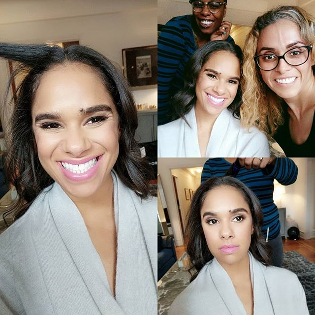 It was such a pleasure to meet and work with the lovely @mistyonpointe @mistycopelandofficial  The first African American principal ballerina @abtofficial  What a great day!  #dramatizon #makeupartist #nycmakeupartist #mistycopeland #americanballettheatre #ballet #dancer #muapassionn #wakeupandmakeup #brianchampagne