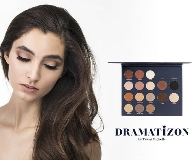 Be UNINHIBITED! Turn the Drama:On with this gorgeous eyeshadow palette with a combination of neutral warm and cool tones. Perfect for your day-to-day look, to your edgy night look. Also perfect for brides. Click the link in the bio to shop!  Model: @parisalatrach Photographer: @isadora  Visuals/ branding/logo design: @natashadesigns  Makeup artist: @gsteeeeves Hairstylist: @brit_tani11  #dramatizon #eyeshadow #makeupaddiction  #100daysofmakeup #makeupjunkies #makeupcollection