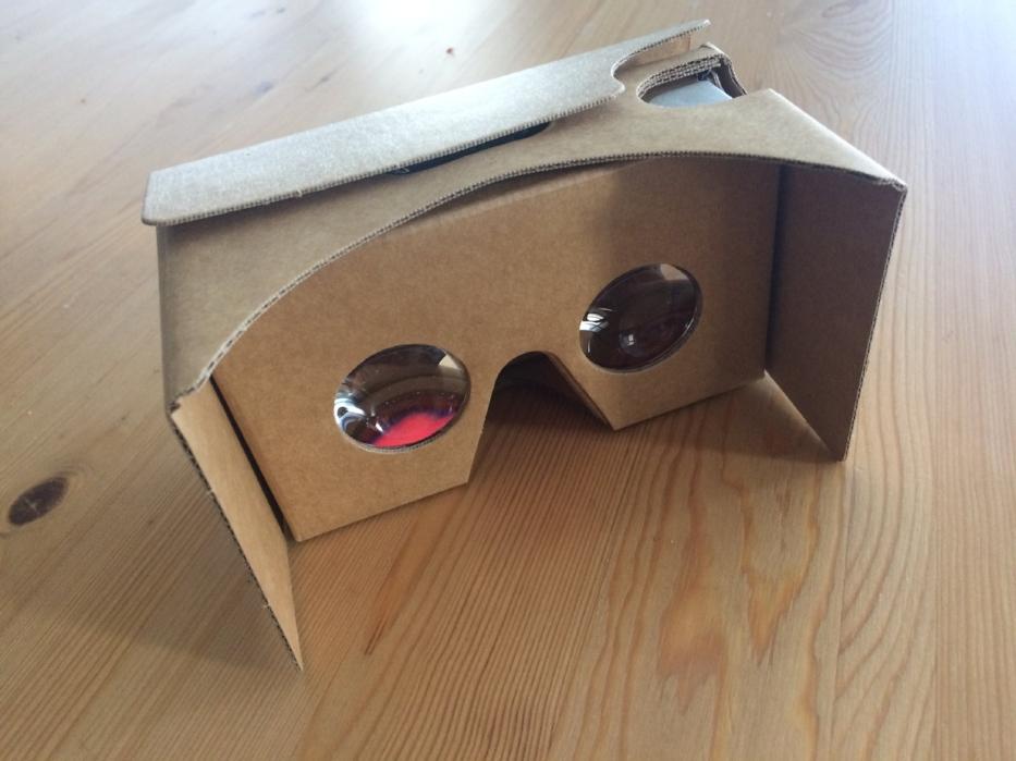 - Google Cardboard used to create virtual reality application