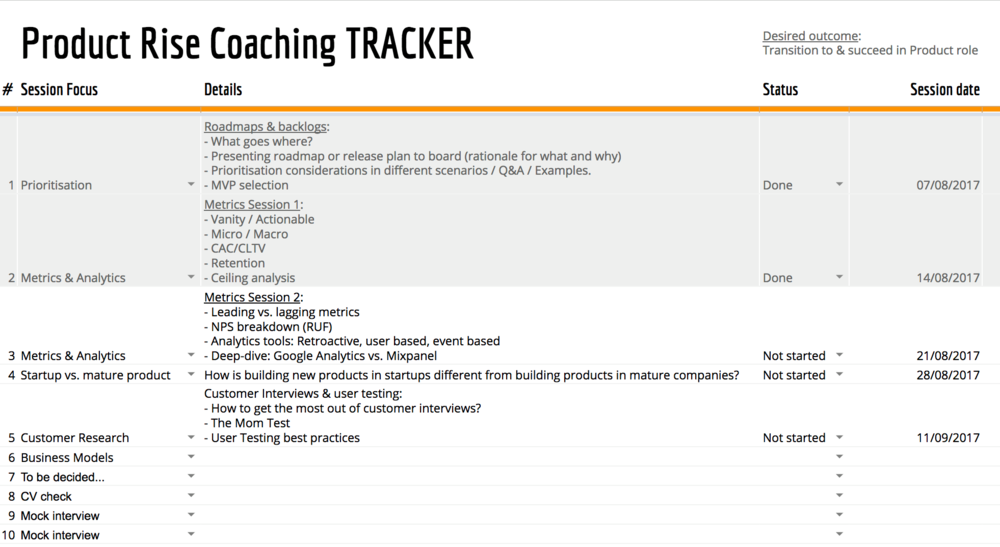 Coaching Tracker